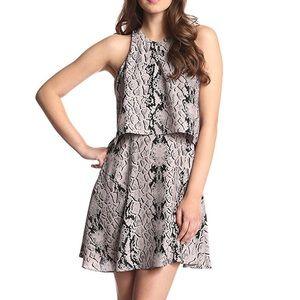 Parker Snakeskin Print Chelsea dress